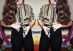 Julie B. - Topshop High Waisted Black Leggings - Novacane.