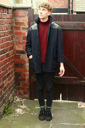 Richard M - Odder Vintage Fair Donkey Jacket, Oxfam Turtle Neck, Creepers - Valar Morghulis