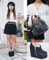 Jennifer V - Zara Hat, Zara Belt, New Look Shoes - Leopard, white, black ~
