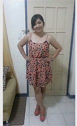 Leign Gamit - Forever 21 Flowy Dress, Vince Camuto Heeled Cork Sandals - Saturdate night! ;)