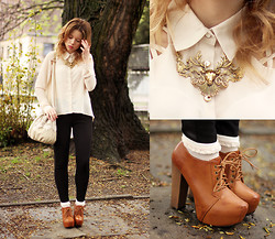 Wioletta Mary Kate - Romwe Shirt, Romwe Necklace, Bag, Fleq Shoes - Magical