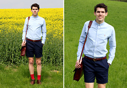 Marco Troiani - Ralph Lauren Shirt, Asos Shorts, Italian Leather Satchel - Mother-in-law-outfit