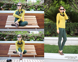 Lali B. - Ralph Lauren Sunnies, H&M Necklace, River Island Turtleneck, Mango Ring, Forever 21 Leggings, Minelli Shoes - Workout Weekend