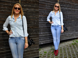 Sara Zgrzebniak - H&M Shirt, Reserved Jeans, Promod Boots, Romwe Bag, Reserved Sunnies - Everybody hurts