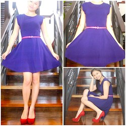 Lea Esguerra - Topshop Purple Dress, Aldo Red Pumps - Purple Dress