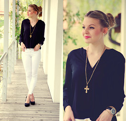 Laura Mk - H&M Blouse, Zara Pants - Its time for BW