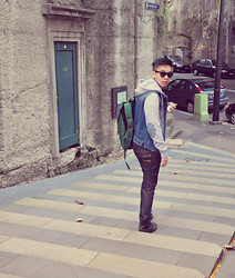 Kevin Suganda - Golliat Jacket, Nudie Jeans Pants, H&M Shoes, Ray Ban Glasses - The Rocks