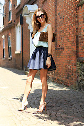 Magdalena Knitter - Christian Louboutin Shoes, Sylwia Majdan Denim Skirt - Spring is here….