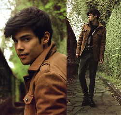 Vini Uehara - Men's Mandarin Collar Coat Slim Long Sleeve Jaket Top Outerwear Worsted Coats, Glamour Kills Guys Ghoulish Intentions Sweatshirt - When Will You Come Home?