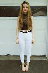 Stacey Belko - Necessary Clothing Crop Top, Necessary Clothing Jeans, Necessary Clothing Sandals - Necessary clothing.