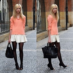 Barbora Ondrackova - F&F Orange Sweater, Stylesofia Leather Dress, Céline Mini Luggage - CANDY COLOURS
