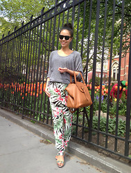 Leah Ho - Meli Melo Bag, Detail On Blog Floral Trousers, Ray Ban Sunnies, Marni Metallic Sandals - FLORAL TROUSERS