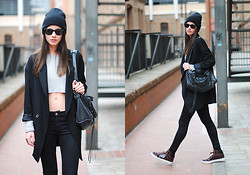 Zina CH - Yves Saint Laurent Shoes, Balenciaga Bag, American Apparel Hat - The Cropped Top