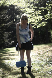 EMILIE HIGLE - Zara Top, Axparis Dress, Chanel Bag, Maje Boots - STRIPES