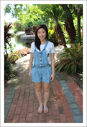 Marie Z - Forever New Denim Overalls, Paper Tee Think, Far East Plaza Flower Sandals - OOTD: Back to Childhood ♥