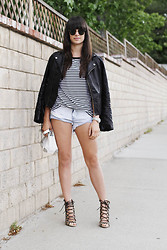 Casey David - Wasteland Jacket, Sheinside Tee, One Teaspoon Shorts, Zara Bag, Zara Heels - Hot Chocolate