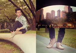 Evelio Barion - Itti Shoes, Penshoppe Pants, Dude Floral Top - Ayala Boy