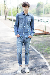 Paweł Lewandowski - H&M Denim Shirt - Denim denim