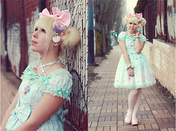 Ariel Martin-Reed - Angelic Pretty Jewelry Jelly, Diy Pink Bow, Chocomint Heart Two Way - Jelly Jewelry;
