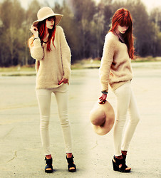 Mary Volkova - Hat, Pants - Beige