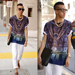 Brandon Tran - Illustrated People Shirt, J.Lindeberg Trousers, Zara Bag, Puja Jewerly Accessories - Illustrated People