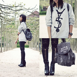 Anjelica Lorenz - 5preview Sweater, 5preview Backpack, Stylestalker Leggings - ROBOCOP.