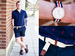 Martin Bohm - Dr. Martens Docs, These Glory Days Shorts, Saddler Belt, Daniel Wellington Watch, H&M Shirt - Gone So Young