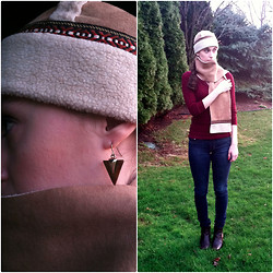 Pauline - Forever 21 Earrings, American Eagle My Favorite Jeans` - May in Michigan