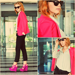 Halina Myers - Zara Blazer, Forever 21 Shirt, Office Shoes, Prada Sunglasses - MS MR - Fantasy