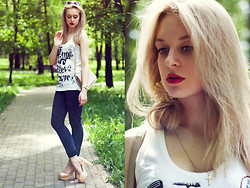 Anastasia Roshchenya - Mango Jeans, Sisley Shirt - Idea of happiness