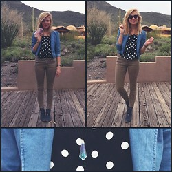 Dani Bennett - Thrifted Polka Dot Shirt - Whippin' out those oldies!