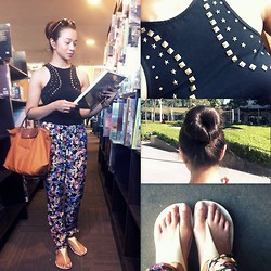Lui Raymundo - H&M Trousers, Miss Selfridge Dress Turned Top, Crocs Slips - City Summer Blues