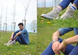 Davide Peretti - Jeffrey Campbell Shoes, American Apparel Socks, Casio Watch - Comfy Spring Look