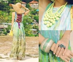 Kryz Uy - Binkydoodles Dress, Olive + Piper Necklace - Win this Necklace on my blog!