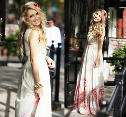 Camilla S - Mango Long Dress, Tierra Roses Headband - Glamgerous for Mango
