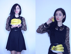 Laura Borges Ribeiro - New Look Dress, Forever 21 Leopard Print Shirt - WHEN LIFE GIVES YOU BANANAS INSTEAD OF LEMONS