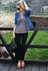 Tatjana Jovanovic - Tideshe Jacket, Amisu T Shirt, Bershka Pants, Romwe Bag, Bershka Sandals - Denim jacket