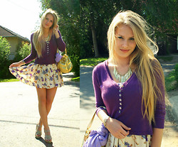 Melinda Magda - Terranova Purple Sweater, H&M Gold Necklace, Home Made Dress - Remember me