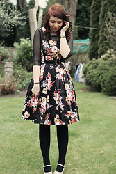 Charlotte Crowley - Modcloth Floral Dress, New Look Nude Wedges - New favourite dress