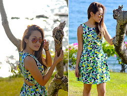 Laureen Uy - Ray Ban Sunnies, Sm Gtw Dress - Cliff Hang (BMS)