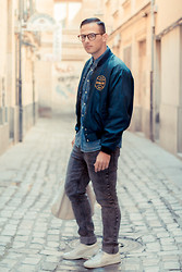Jeffrey Herrero - Bomber West Wind Buccaneer, Cheap Monday Jeans - West Wind Buccaneer Bomber Vintage