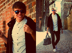 Charlie Alexander - Topman Jacket, House Bag - Keep calm and wear black&white part II