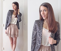 Laura A-B - Topshop Blazer, H&M Top, The Kooples Skirt - I wanna take you somewhere so you know I care