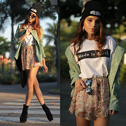 Alana Ruas - Sheinside Jacket, Educate Elevate Beanie, Brashy Couture Shirt, Living Royal Sun Glasses, Oasap Boots - Candy