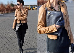 I dare you To be fashion -  - Brown leather jacket