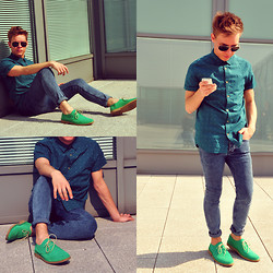 Charlie Alexander - Topman Desert Shoes, Cedarwood State Skinny Jeans, Cedarwood State Shirt - Green Power !