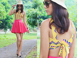 Patricia Prieto - Binkydoodles Top, Random From Singapore Skirt, Cmg Heels - Candy in the Sun