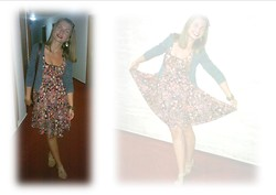 "Loredana Oprea - Effect Fun Dress, C&A Blue Cardigan, Zara Cream Sandals - ""I believe I can fly!"""