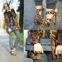Darya Kamalova -  - LEOPARD + LEATHER? NO, IT'S NOT TOO MUCH!