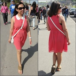 Iza Fugen - Forever 21 Dress, H&M Toilet Handbag, Payless Slippers - Coral for Spring/Summer